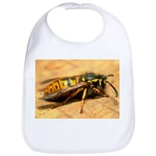 A common adult worker wasp, Vespula vulgaris - Bib