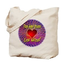 Fight Heart Disease Lose Weight Tote Bag