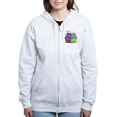 Owls in Love Women's Zip Hoodie