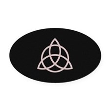 Triquetra Oval Car Magnet