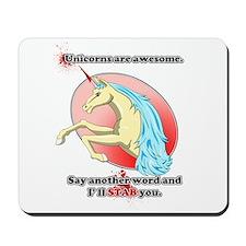 unicorn stab Mousepad