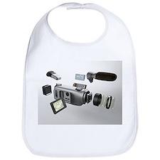 Video camera parts, computer artwork - Bib