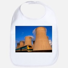 View of cooling towers and high speed train - Bib