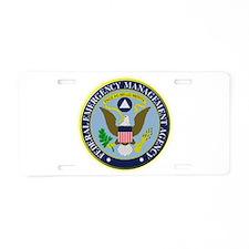 F.E.M.A. Aluminum License Plate