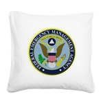 F.E.M.A. Square Canvas Pillow