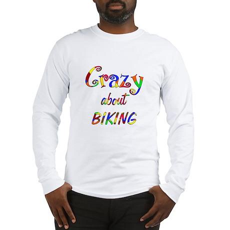 Crazy About Biking Long Sleeve T-Shirt