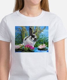 Buttercup Bunny on Lily Pads-1 Women's T-Shirt