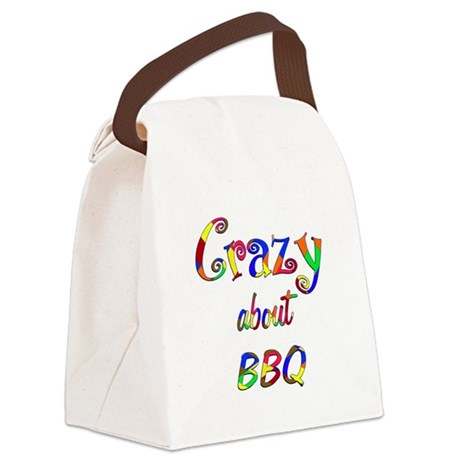 Crazy About BBQ Canvas Lunch Bag