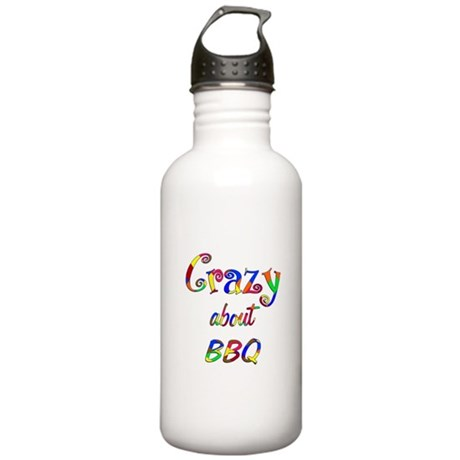 Crazy About BBQ Stainless Water Bottle 1.0L