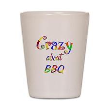 Crazy About BBQ Shot Glass