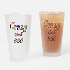 Crazy About BBQ Drinking Glass