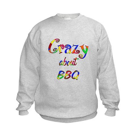 Crazy About BBQ Kids Sweatshirt