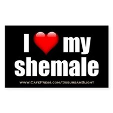 I Love My Shemale 3x5.jpg Decal