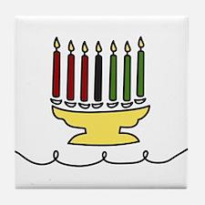 Kwanzaa Candles Tile Coaster
