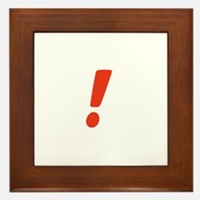 Exclamation Point Framed Tile