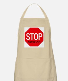 Stop Anderson BBQ Apron