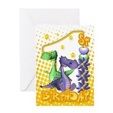 Twins First Birthday Card - Cute Dragons