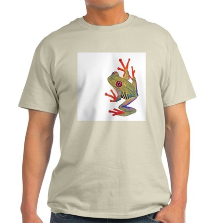 """Red-eyed tree Frog"""" Ash Grey T-Shirt"