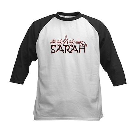Sarah in ASL Kids Baseball Jersey