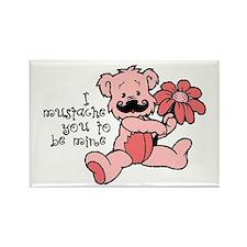 Mustache bear Rectangle Magnet