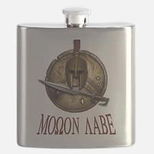 Spartan Skull w/ Sword Molon Labe Flask