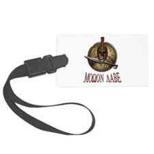 Spartan Skull w/ Sword Molon Labe Luggage Tag