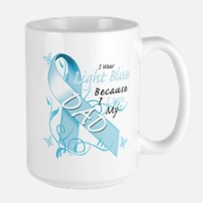 I Wear Light Blue Because I Love My Dad.png Mug