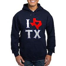 I Heart (Love) Texas Hoodie