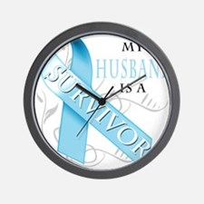 My Husband is a Survivor.png Wall Clock