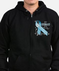 My Husband is a Survivor.png Zip Hoodie (dark)
