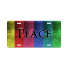 Colorful Peace Retro Aluminum License Plate