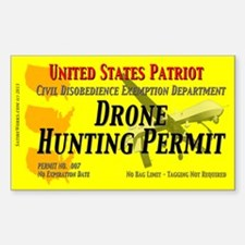 Drone Hunting Permit Sticker (Rectangle)
