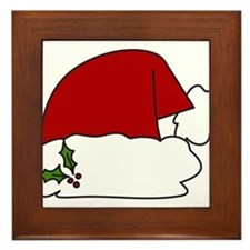 Santa Hat Framed Tile