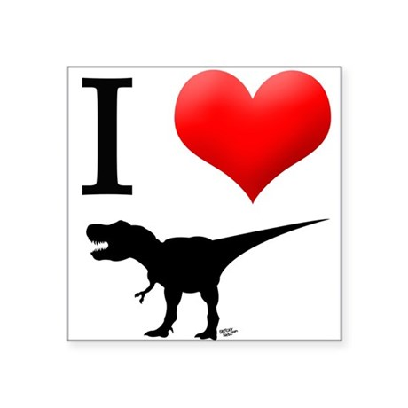 "dinosaurs Square Sticker 3"" x 3"""