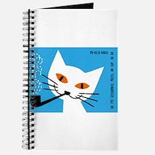 1966 Polish Smoking Cat Matchbox Label Journal