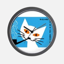 1966 Polish Smoking Cat Matchbox Label Wall Clock