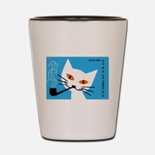1966 Polish Smoking Cat Matchbox Label Shot Glass