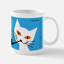 1966 Polish Smoking Cat Matchbox Label Mug