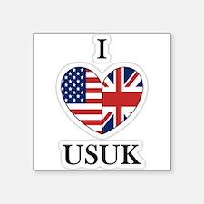 "I Heart USUK Square Sticker 3"" x 3"""