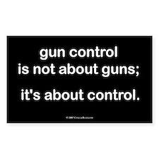 Gun Control Oval Decal