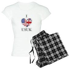 I Heart USUk Pajamas