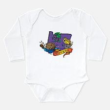 Oregon Map Long Sleeve Infant Bodysuit