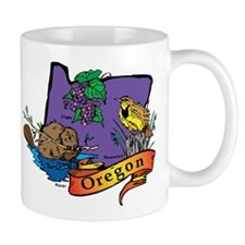 Oregon Map Mug