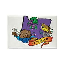 Oregon Map Rectangle Magnet (10 pack)