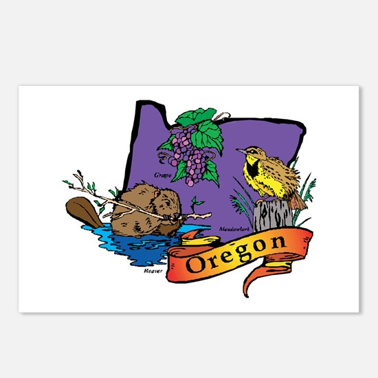 Oregon Map Postcards (Package of 8)