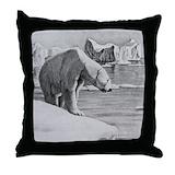 Polar bear pillow Throw Pillows