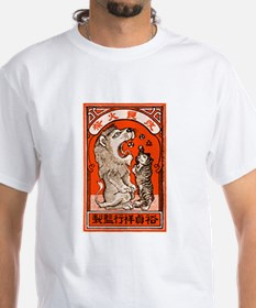 1910 Japanese Lion and Cat Matchbox Label Shirt