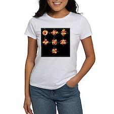 4f electron orbitals, cubic set - Tee