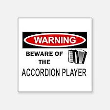 """Accordion Player Square Sticker 3"""" x 3"""""""