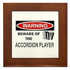 Accordion Player Framed Tile